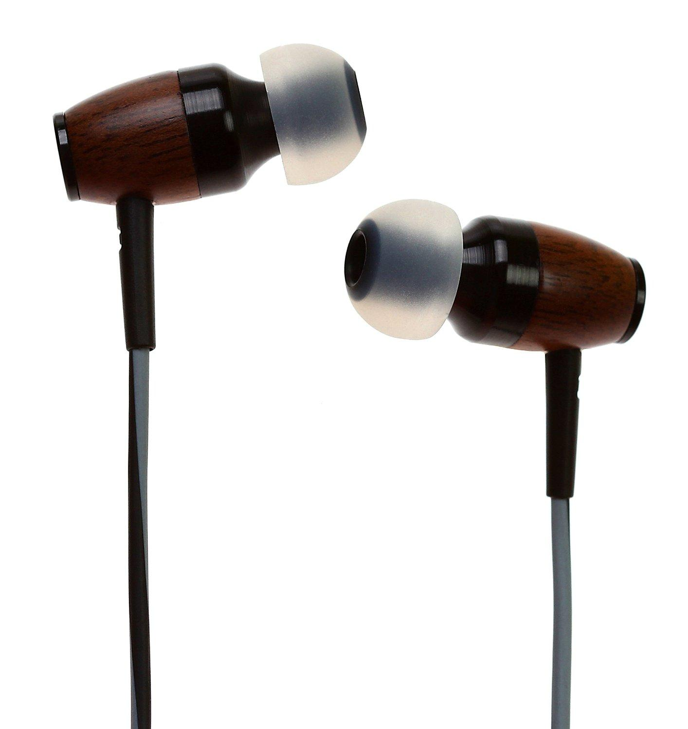 Symphonized DRM Premium Genuine Wood In-ear Noise-isolating Headphones with Mic (Pink)