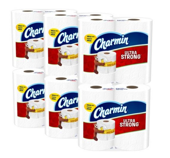 From $23.31 Charmin Ultra Soft/strong Toilet Paper, Mega Roll, 24 Count