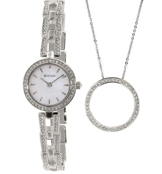 Bulova Mother of Pearl Dial Stainless Steel Ladies Watch 96X130