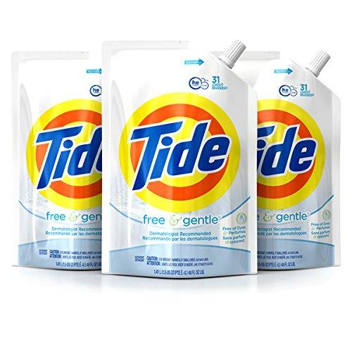 $14.09 Tide Original Scent HE Turbo Clean Liquid Laundry Detergent, Pack of three 48 oz
