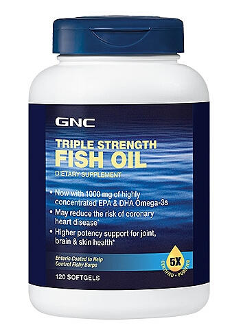 2 For $30 GNC Triple Strength Fish Oil New Improved Formula 120 softgels