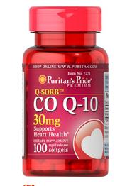6 for $23.98 Puritan's Pride Q-SORB Co Q-10 30 mg, 100 Softgels