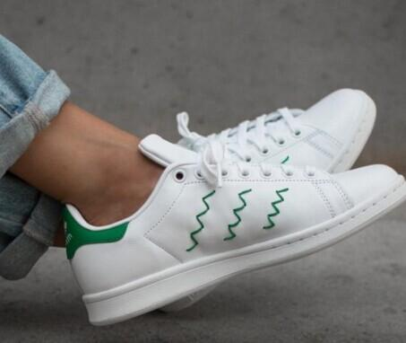 adidas Women's Stan Smith Squiggly Casual Sneakers @ macys.com