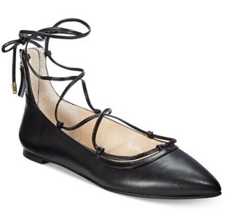 INC International Concepts Zadde Lace-Up Pointed-Toe Flats @ macys.com