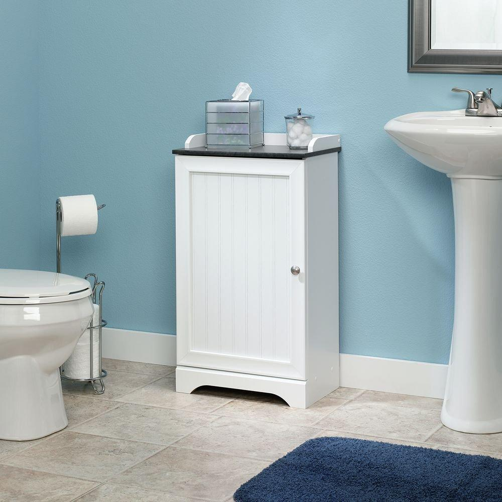 Sauder Caraway Floor Cabinet, Soft White Finish