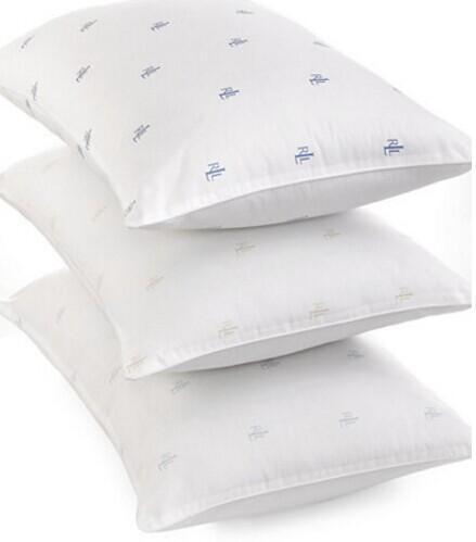 Lauren Ralph Lauren Logo Medium Density Standard/Queen Pillow @ macys.com