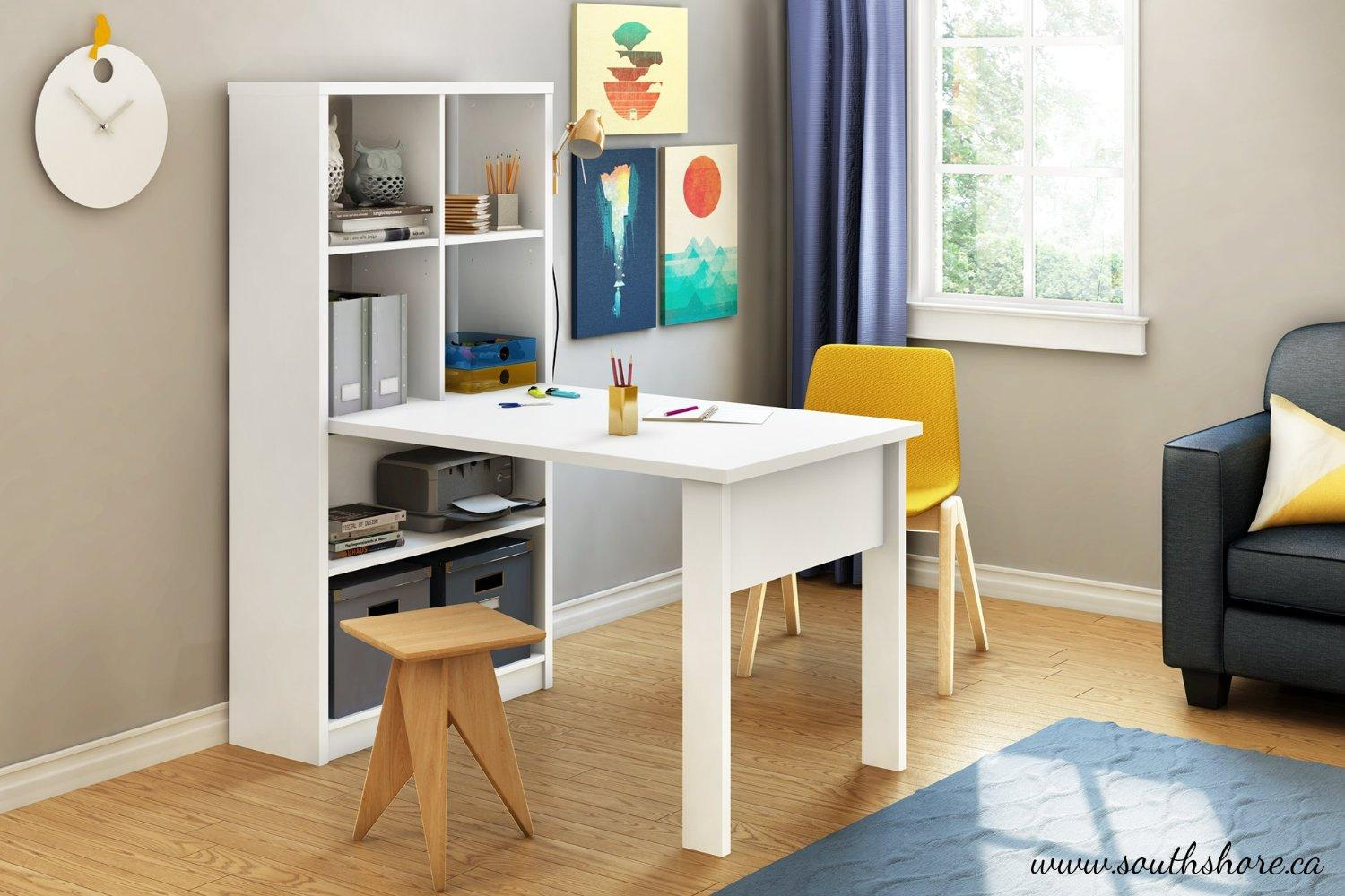 South Shore Annexe Craft Table and Storage Unit Combo