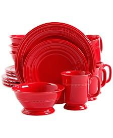 16-Piece Signature Living Adele Stoneware Dinnerware Set