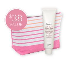 FREE Beauty Bag & Fresh Soy Cleanserwith $149 Purchase @ Clarisonic