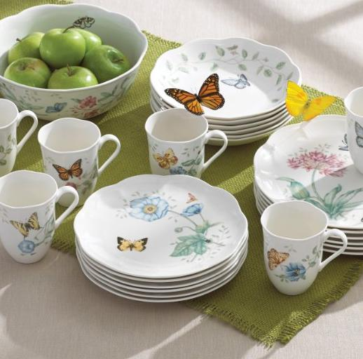 Lenox Butterfly Meadow 18-Piece Dinnerware Set, Service for 6 @ Amazon