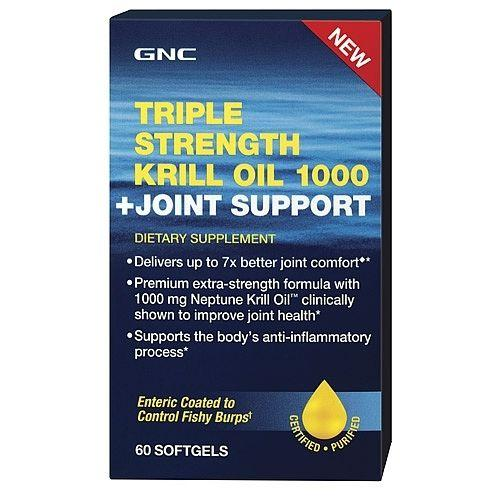 GNC Triple Strength Krill Oil 1000 + Joint Support 60 softgels