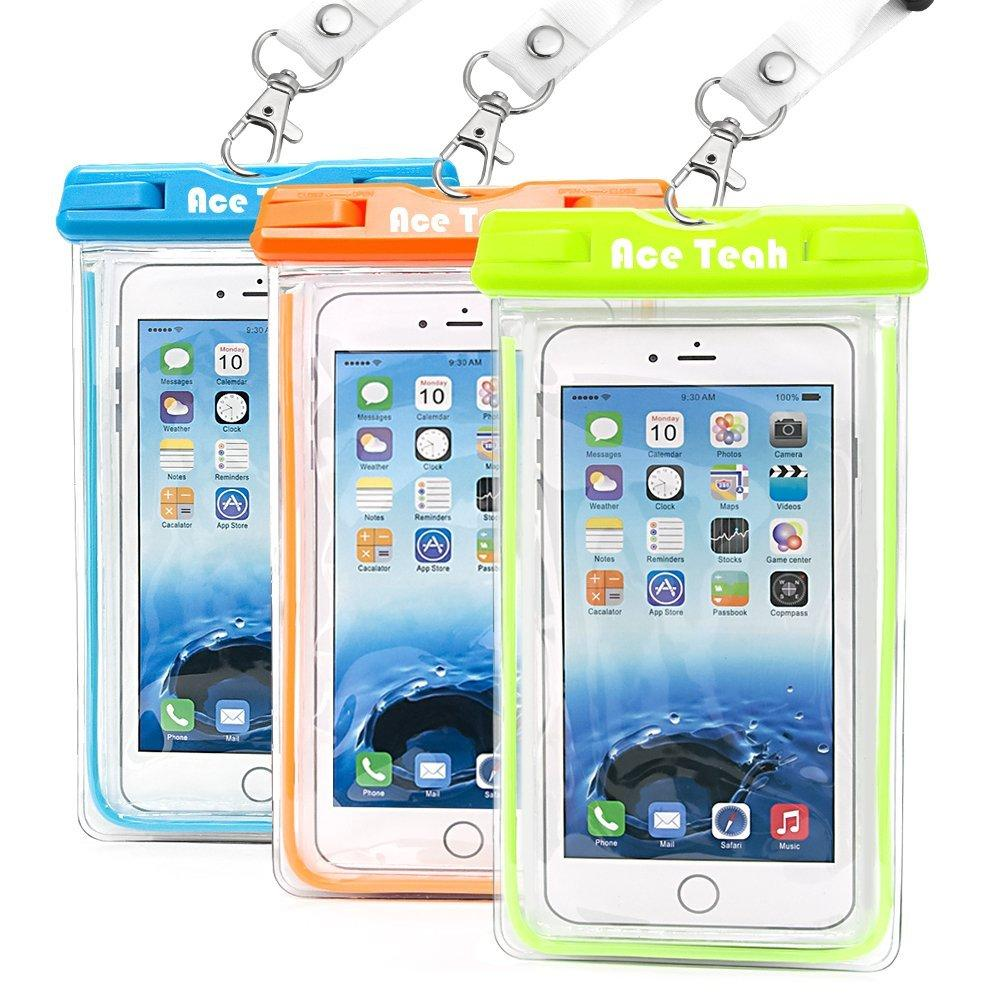 3 Pack Ace Teah Clear Transparent Universal Waterproof Case