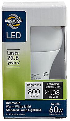 Brighton Professional 60W LED Dimmable Standard Lamp Light Bulb