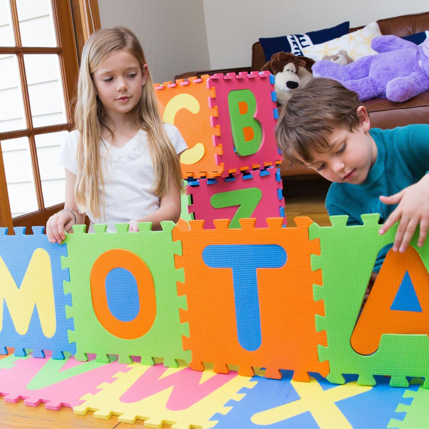 $14.99 MOTA Alphabet ABC Floor Play Mat for Ages 2+ (Foam Puzzle Play Mat)