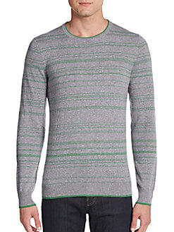 Saks Fifth Avenue Micro Stripe Cashmere Sweater