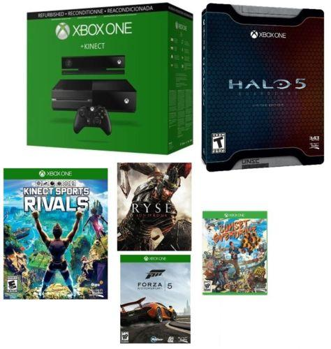 Microsoft Certified Xbox One 500GB Console w/Kinect - 5 GAME BUNDLE