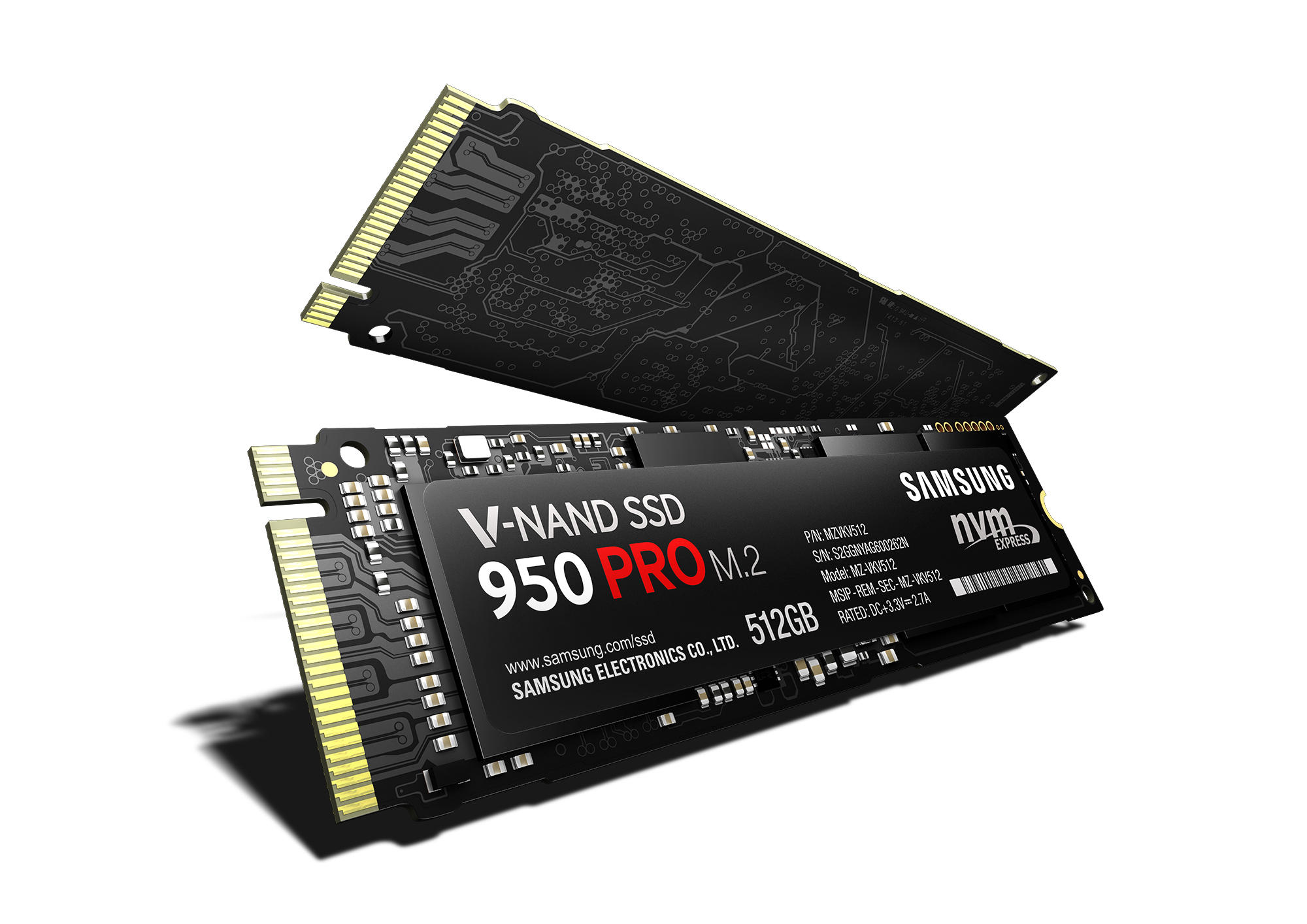 SAMSUNG 950 PRO M.2 512GB PCIe 3.0 x4 Internal Solid State Drive