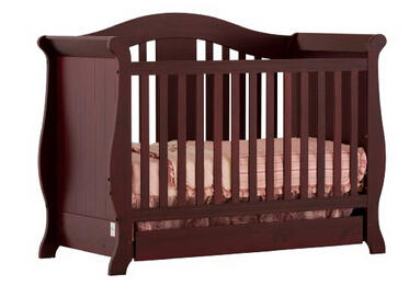 Stork Craft Vittoria 3-in-1 Fixed Side Convertible Crib @ Amazon