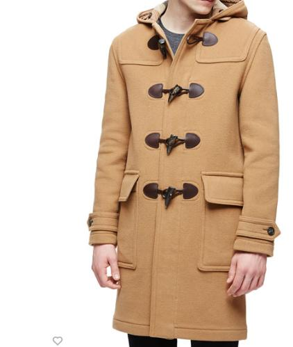 Burberry Brit Hooded Duffle Long Coat, Camel @ Neiman Marcus