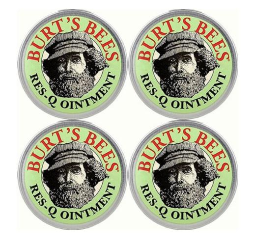 $7.54 Burt's Bees 100% Natural Res-Q Ointment, 0.3 Ounce, (Pack of 4)