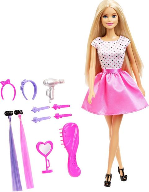 Barbie Doll with Hair Accessory @ Amazon