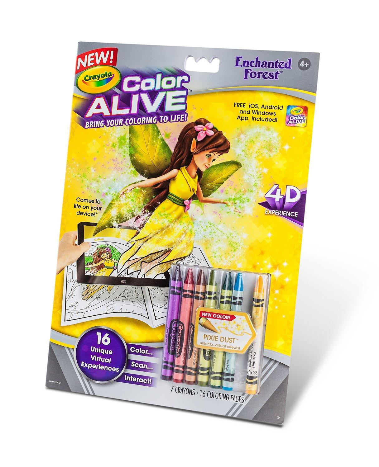 $2.3 Crayola Color Alive Action Coloring Pages