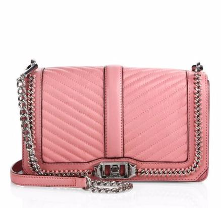 Rebecca Minkoff Chevron Quilted Love Leather Crossbody Bag