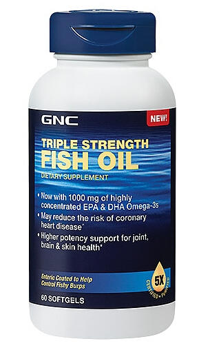 2 for $17.98 GNC Triple Strength Fish Oil 60 softgels