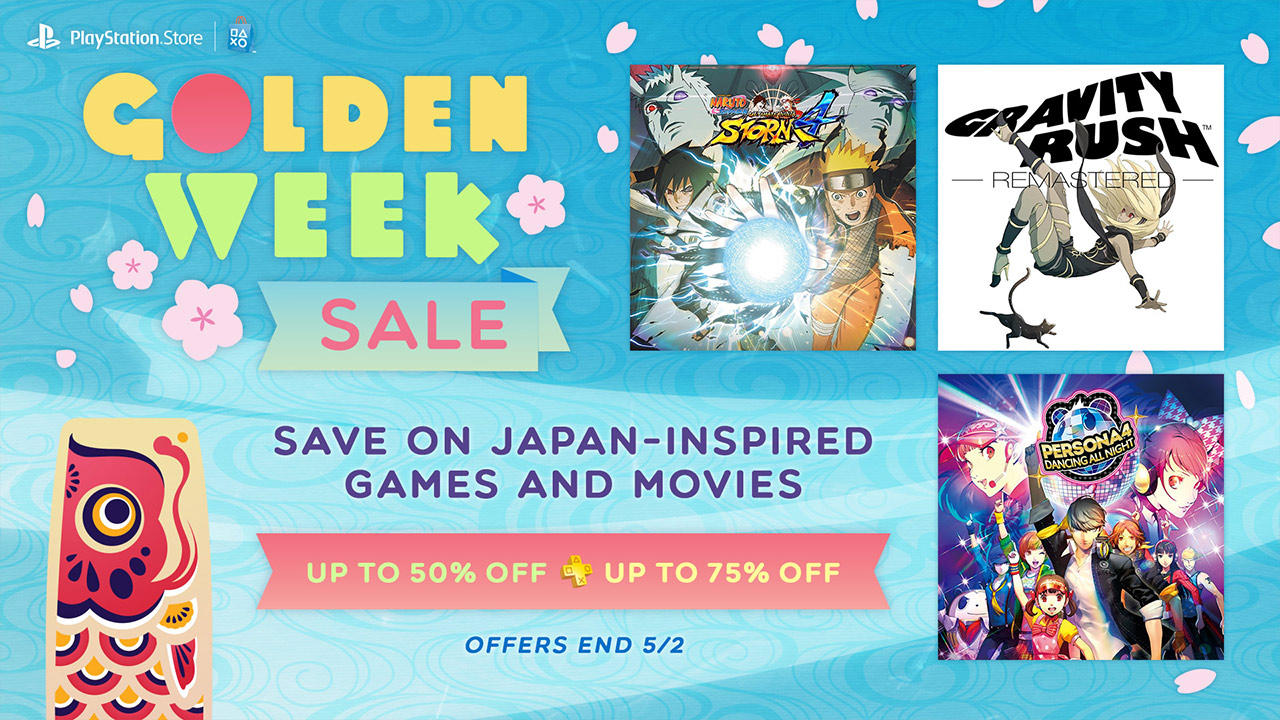 Up to 50% off + Up to 75% off for PSN Plus PlayStation Store Golden Week Sale