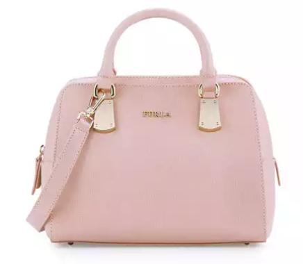 Furla Scarlett Small Leather Satchel Bag, Moonstone