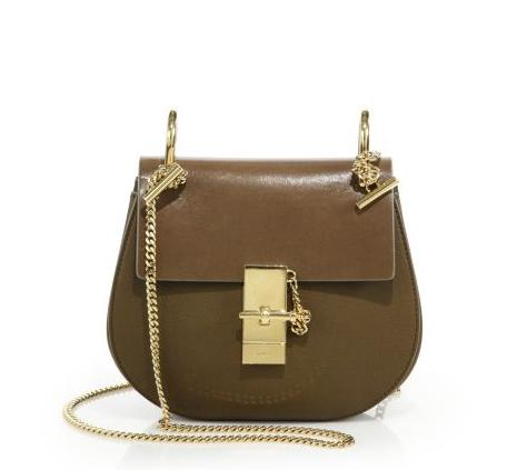 Chloé  Drew Small Two-Tone Leather Crossbody Bag @ Saks Fifth Avenue