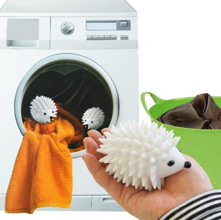 $5.99 Kikkerland Hedgehog Dryer Balls, Reusable, White, Set of 2 @ Amazon