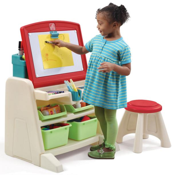 Step2 Flip and Doodle Desk with Stool Easel @ Amazon