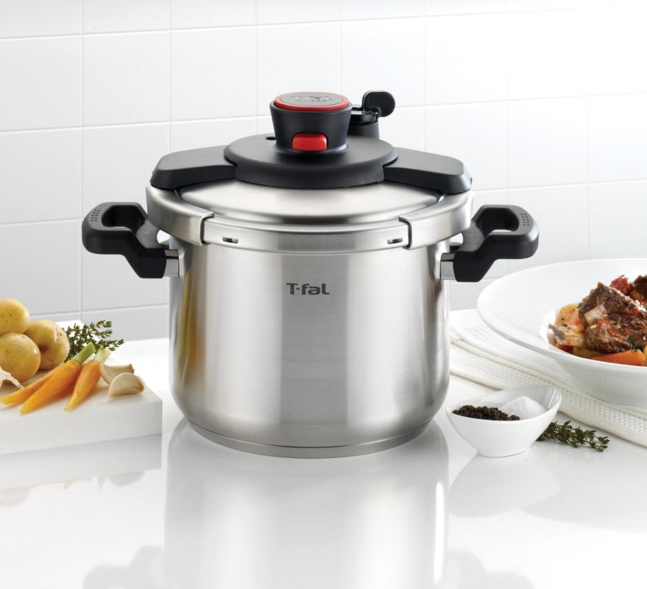 Lightning deal-T-fal P45007 Clipso Stainless Steel Pressure Cooker, 6.3-Quart, Silver