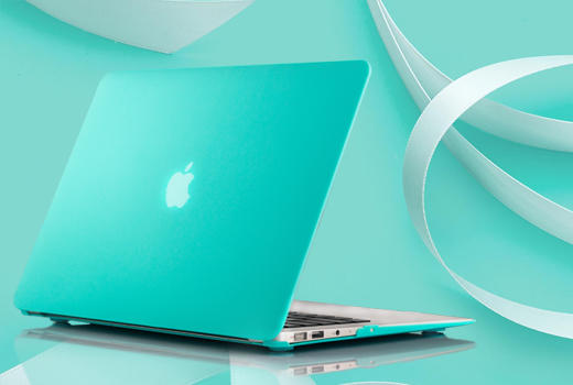 Dealmoon Only! iBenzer 2 in 1 Turquoise Soft-Touch Plastic Hard Case and Keyboard Cover for Macbook Pro 13' with Retina Display