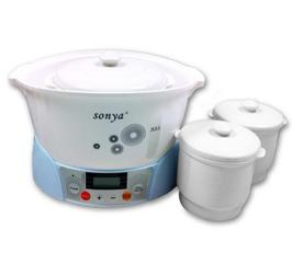 SONYA Slow Cooker with 3 Ceremic Jugs SDZ-12T3
