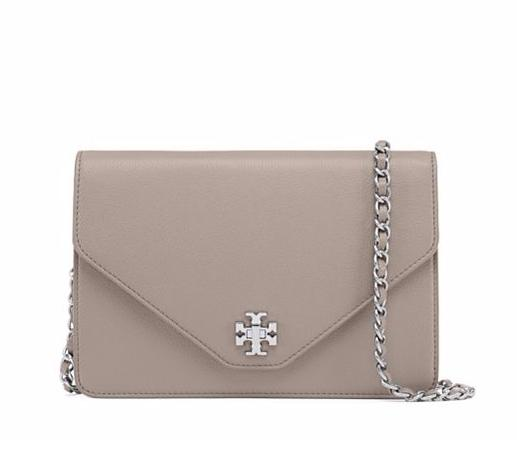 KIRA METALLIC-GUSSET CLUTCH @ Tory Burch