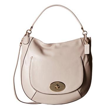 COACH Smooth Leather Circle Hobo