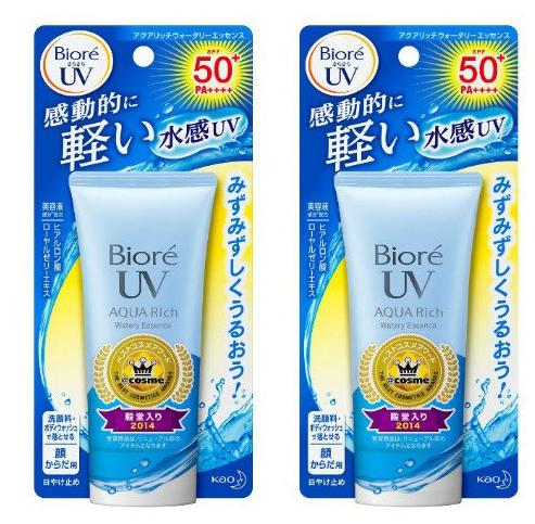 $19.37 Biore Sarasara UV Aqua Rich Watery Essence Sunscreen SPF50+ PA+++ 50g (Pack of 2)