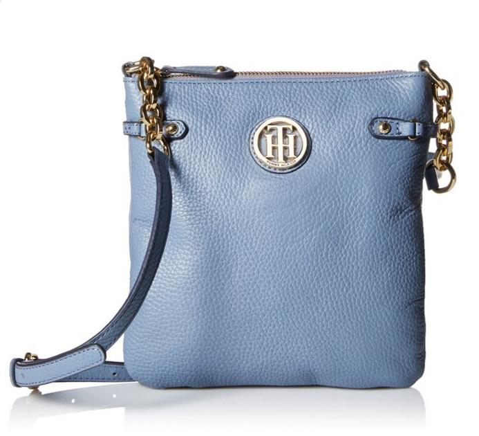 $51.98 Tommy Hilfiger Sadie Leather EW Cross Body Bag