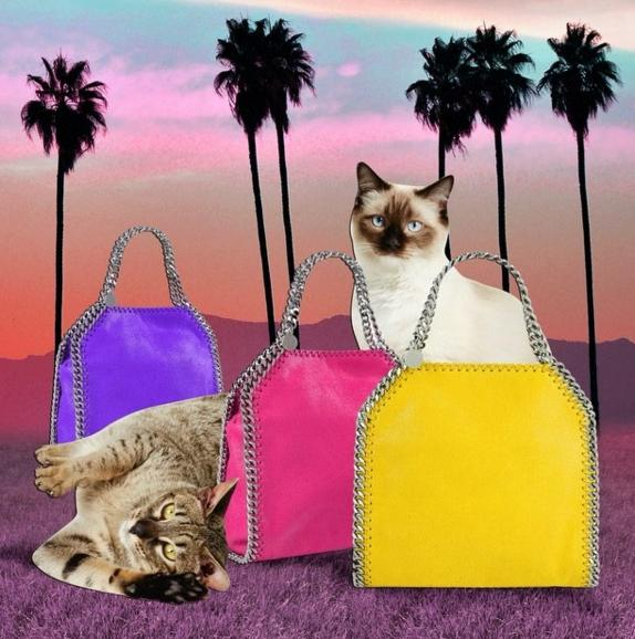 Free shipping and returns Rainbow POP Falabella Handbags Now Available @ Stella McCartney