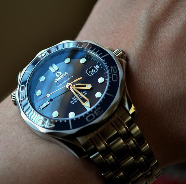 $2495 Omega Seamaster Automatic Blue Dial Mens Watch 212.30.41.20.03.001