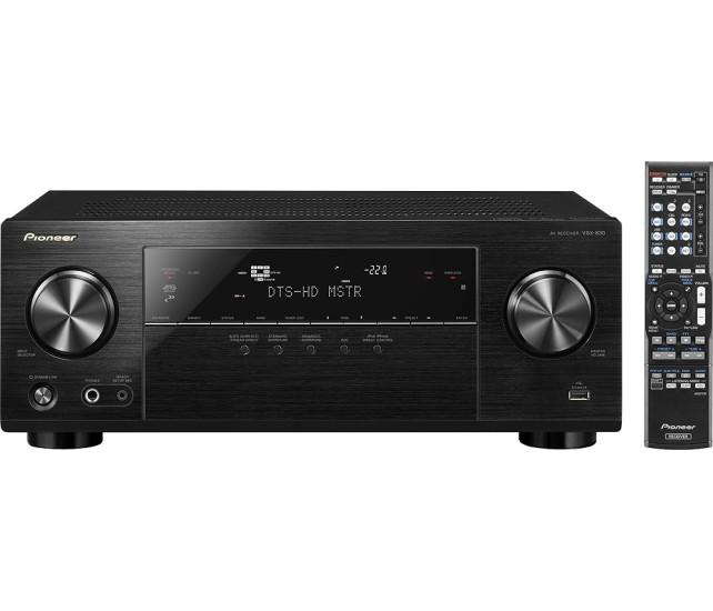 Pioneer - 700W 5.2-Ch. 4K Ultra HD and 3D Pass-Through A/V Home Theater Receiver - Black