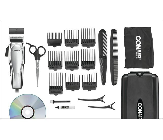 Conair - Custom Cut 21-Piece Haircut Kit - Chrome