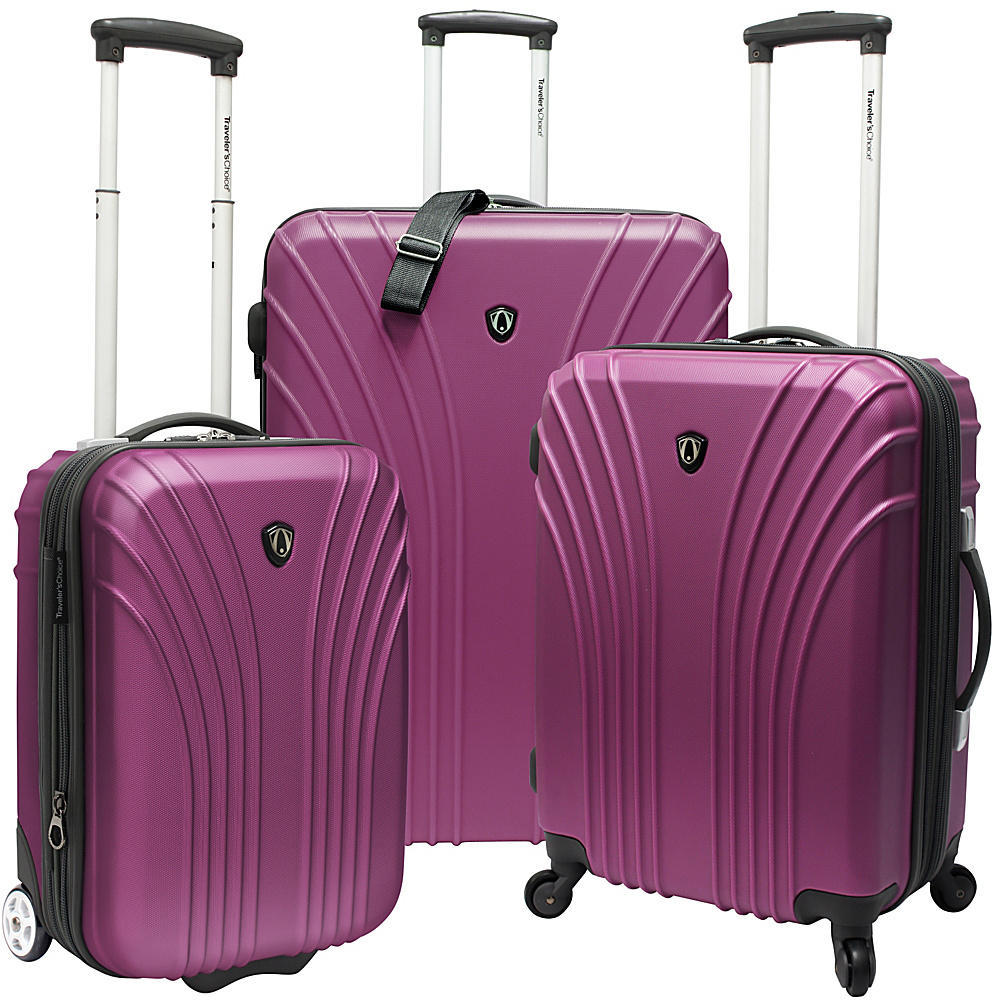 $99.99 Traveler's Choice 3-Piece Hardside Ultra Lightweight Hardside Luggage