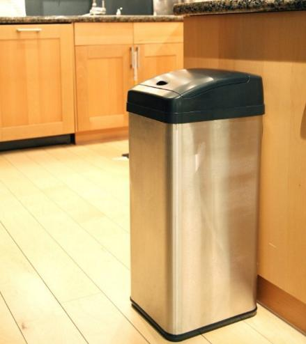 Lowest price! $69.61 Lightning deal-iTouchless Extra-Wide Stainless Steel Automatic Sensor Touchless Trash Can, 13-Gallon