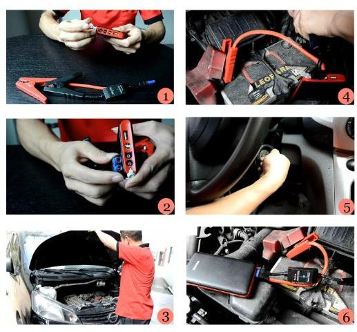 KMASHI 400A Peak 14.8V 8000mAh Compact Car Jump Starter Power Bank Battery Charger with LED Flashlight and Advanced Safety Protection