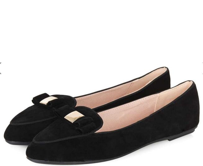 SHAKER Bow Slipper Shoes @ TopShop