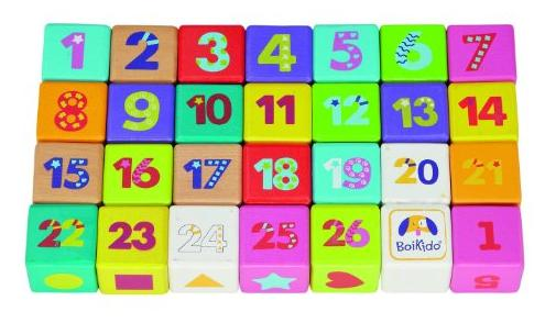 Boikido Wooden ABC Cubes (28-Piece) @ Amazon