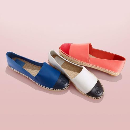 Tory Burch Color-Block Flat Espadrille @ Tory Burch